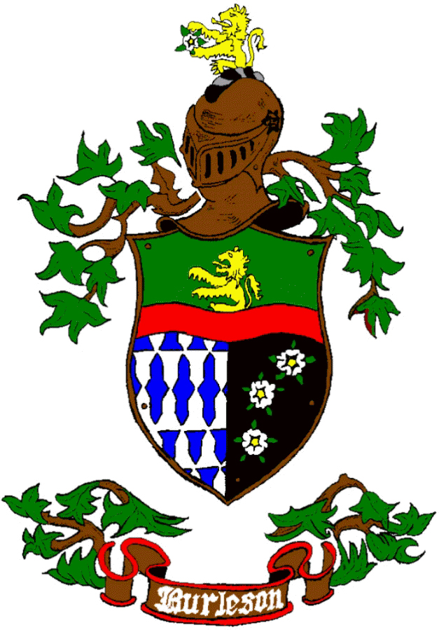Burleson Family And Coat Of Arms